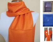 Orange Pashmina Scarf, Shawl, Wrap, bridal shawl, bridesmaids shawl, bridal gift
