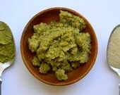 Coconut Matcha- Sugar Scrub-Organic Exfoliating Face & Body Scrub with Extra Virgin Coconut and Sesame Oils, and Matcha Green Tea
