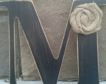 Custom distressed wood letters for home decor - 9 in