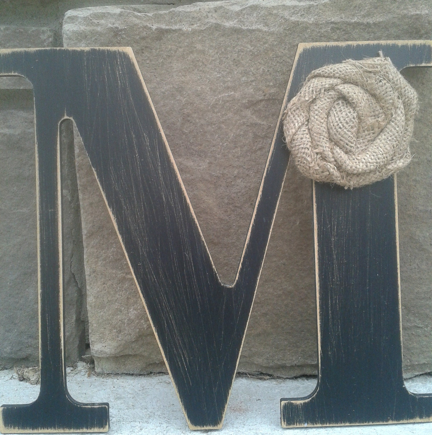 Custom Distressed Wood Letters For Home Decor 9 In