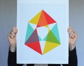 "Giclee print - ""Triangles"" - 13"" x 16"" modern geometric abstract art"