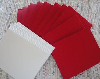 Blank Red Cards and Envelopes   Set of 12