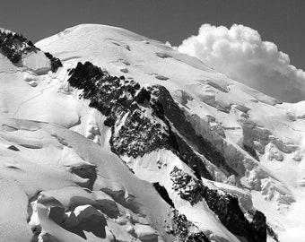 Limited edition - Mont Blanc peak (4,810 m / 15,781 ft) viewed from Aiguille du Midi