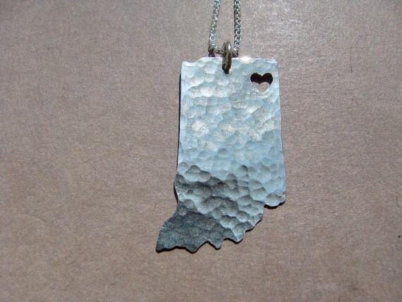 Indiana State Necklace (sterling silver)