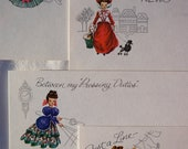 Box of Postcards by Current-Old Fashioned Ladies