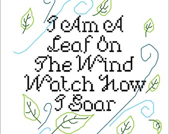 Leaf On The Wind Cross Stitch Pattern