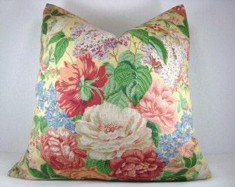 Decorative Floral Cottage Chic Accent Toss Pillow 18X18