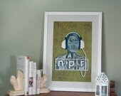 NPR poster 12x18, Paper art print, Ready to ship