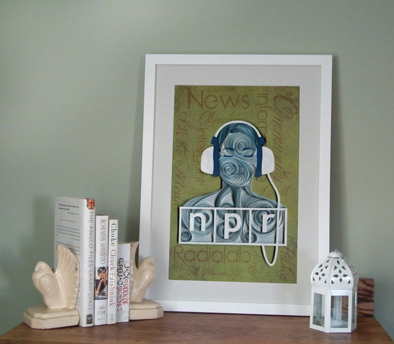 NPR poster 12x18, Paper art print, Ready to ship