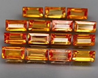 Natural Golden Yellow Sapphire Faceted Baguettes, 4 x 3 MM, Calibrated, Priced Each, Close Out