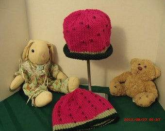 Hats: Watermelon with seeds