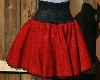 Ladies Full Circle Skirt PDF Sewing Pattern Instand Download - Easy Twirly Skirt Printable Pattern