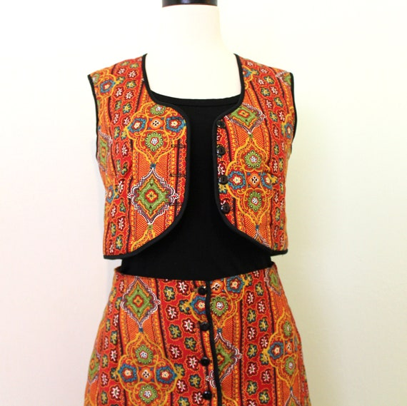 Paisley Skirt and Vest Set