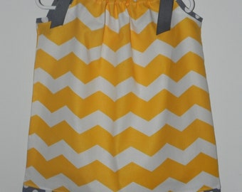 Mad for Chevron Pillowcase Dress or Twirl Skirt