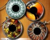 """Digital Collage Sheets CG-591 for Jewelry Making, Crafts, Bottle Caps - Fractal Eyes II - 1.5"""", 1.25"""", 30mm, 25mm, 1 inch circles"""