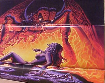 Forbidden World Horror Film Poster 1 Sheet 820062  Rare vintage  1sh 1982 VG from the Hollywood Dome Original One Sheet