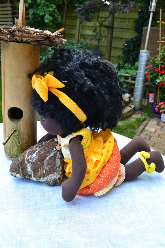 "SALE -  Michelle- 16"" Handmade Waldorf  Doll -  All Natural"