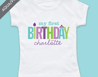 Personalized My First Birthday Girl Tshirt