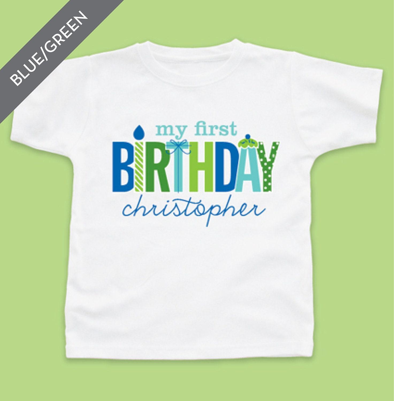 Personalized My First Birthday Boy Tshirt