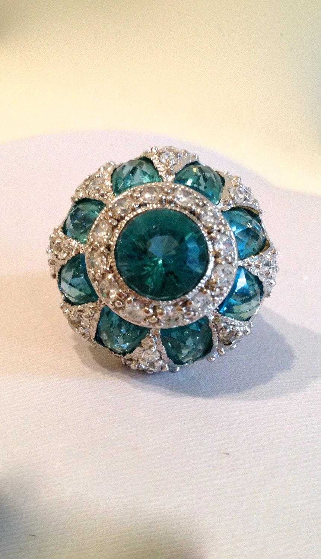 vintage aquamarine estate jewelry ring