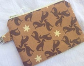 Brown Greyhound Small Zippered Pouch