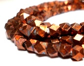 Copper Spacers - Faceted Metal Beads 3.5mm (40)