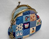 Lovely Blue Square Quilted Purse