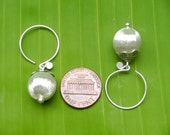 Thai Silver Earrings - The Silver Ball (4)