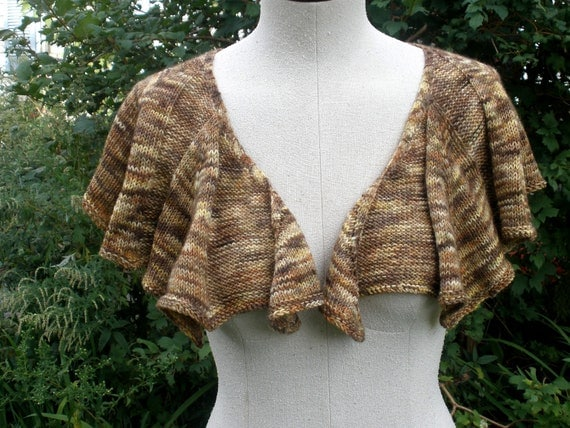 Autumn Shawl, hand knit