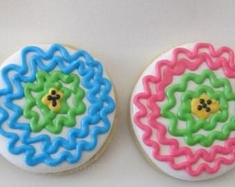 Funky Flowers Cookies 2 dozen