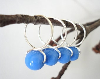 Bluebell - Handmade Snag Free Knitting Stitch Markers (Large) - Fit up to size 15 US (10.00 mm)