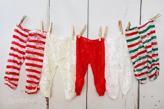 Items similar to Baby Christmas Outfit - Lace Legging ...