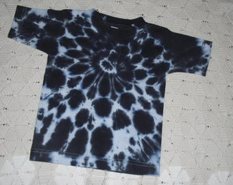 Tie dye shirt, 3 toddler, black and white- Dalmation or Cow Halloween Costume, 350