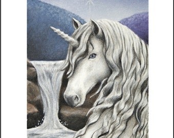 Unicorn ACEO Art Print