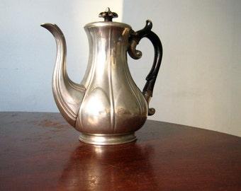 antique english pewter coffee pot James Dixon & Sons Sheffield
