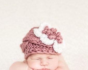 Baby Beanie Hat, Baby Girl Beanies, Baby Knit Beanies, Knit Toddler Hat, Baby Girl Knit Beanie, Newborn Beanie Hat