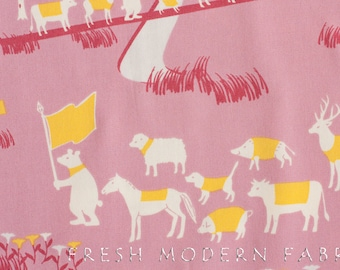 Fat Quarter Cotorienne Oasis in Pink, Anyan for Yuwa Fabric, 100% Cotton Fabric