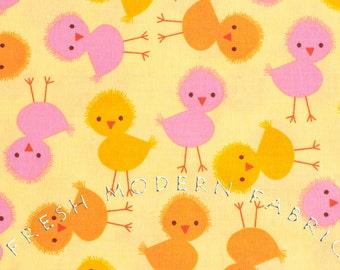 Half Yard Chicks in Spring, Urban Zoologie, Ann Kelle for Robert Kaufman, 100% Cotton Fabric