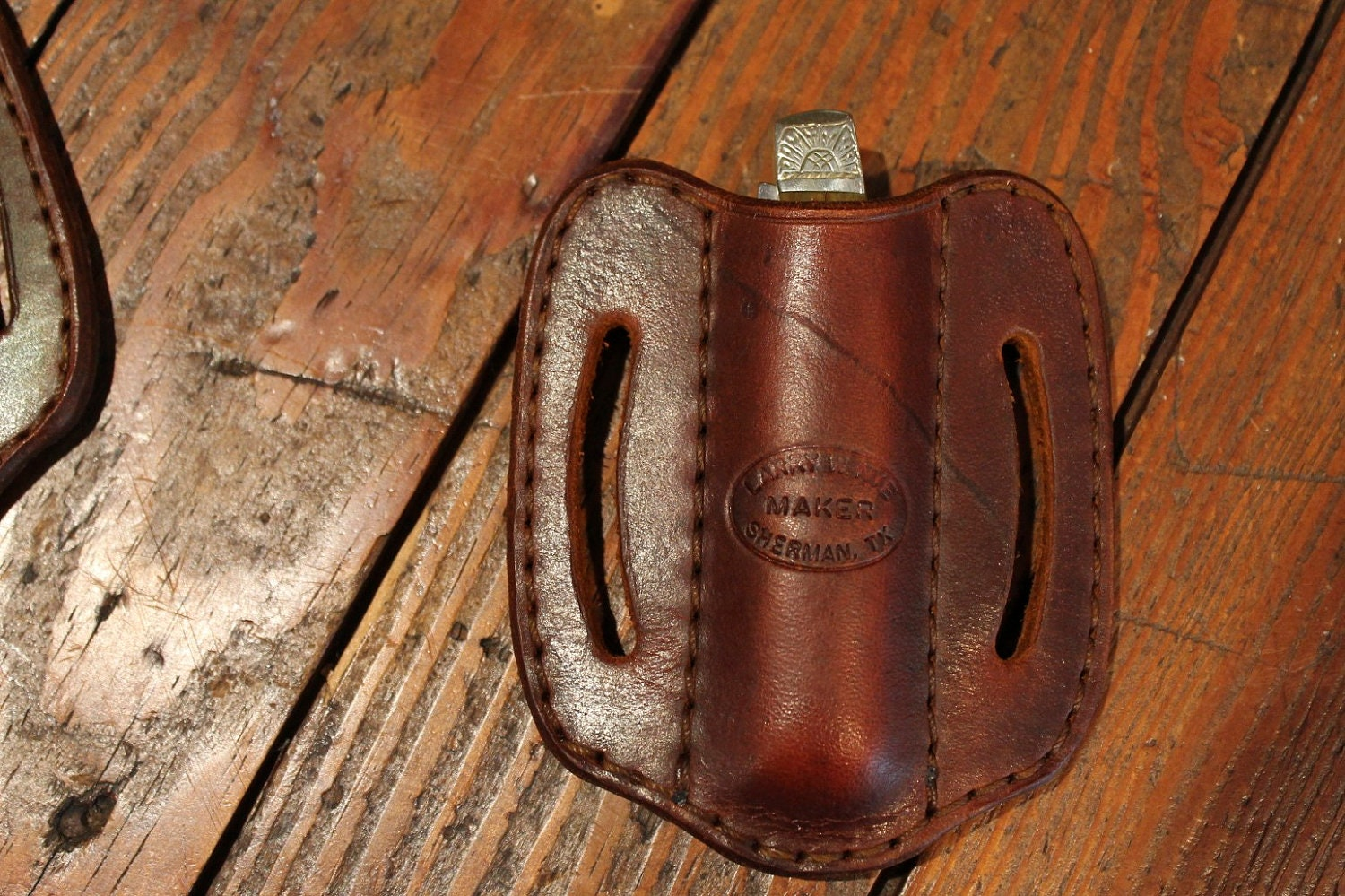 leather knife sheath handmade pancake style knife holster. Black Bedroom Furniture Sets. Home Design Ideas