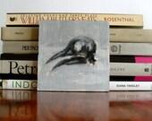 Small bird skull painting - Halloween Art