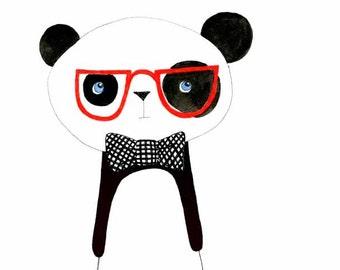 Kids Wall Art, Kids Art,  Panda Art - Frank - Limited Edition 8x10 Print by Jennie Deane