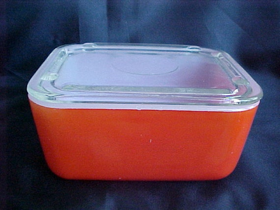 McKee Fired On Red Refrigerator Leftover Dish With Lid Circa 1940s