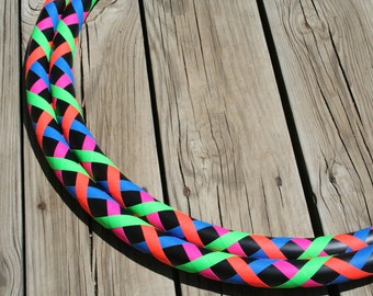 Criss Cross Pattern collapsible Hula Hoop. CUSTOM COLORS, and diameter - Advanced / Children's - Light weight hoop
