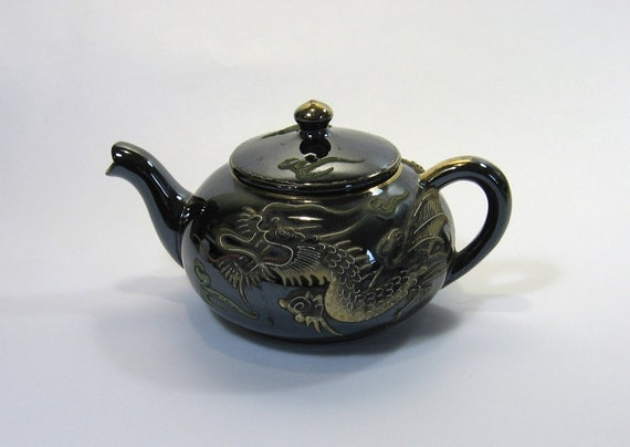 Vintage 1950s Moriage Dragonware Teapot 108 By Munnypenney