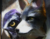 Animals masks- Made to order-. Choose your own animal. Naturalistic painting cartapesta- For decoration or use.