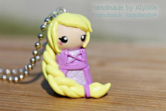 Rapunzel Chibi necklace