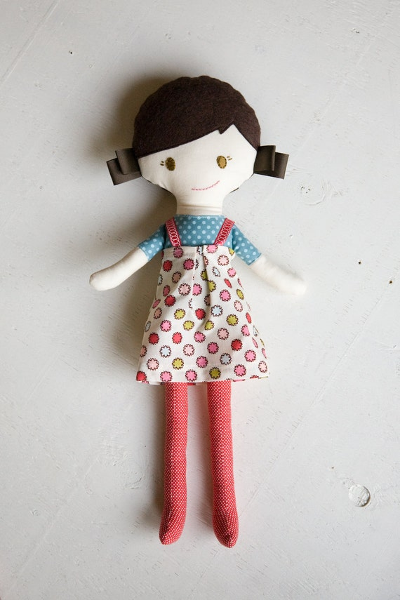 handmade cloth doll / plush doll for little girl