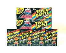 4 Trivia Battle Game Card & Sticker Packs by Topps