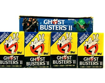 4 Ghostbusters Trading Card & Sticker Packs by Topps