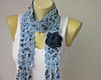 Crochet scarf crochet jewelry ,scarf ,long scarf,handmade scarf ,